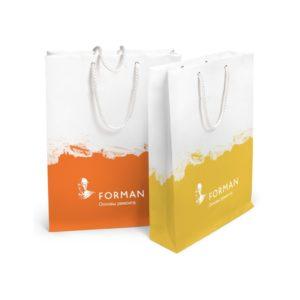 Бумажные пакеты с логотипом на заказ, Дешевые бумажные пакеты со своим логотипом
